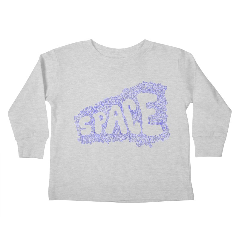 Negative Space (BLUE) Kids Toddler Longsleeve T-Shirt by malsarthegreat's Artist Shop