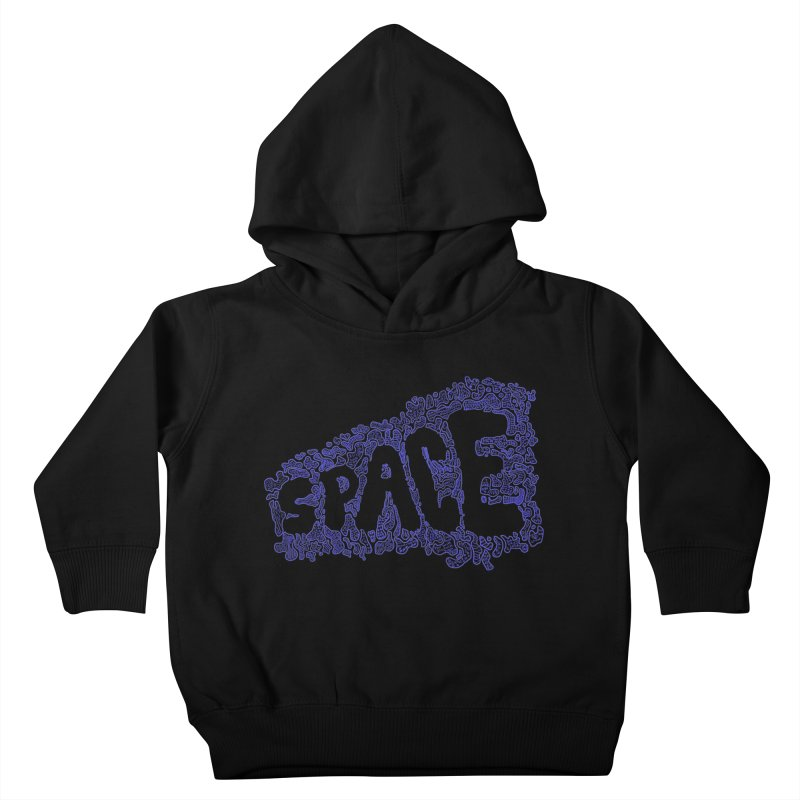 Negative Space (BLUE) Kids Toddler Pullover Hoody by malsarthegreat's Artist Shop