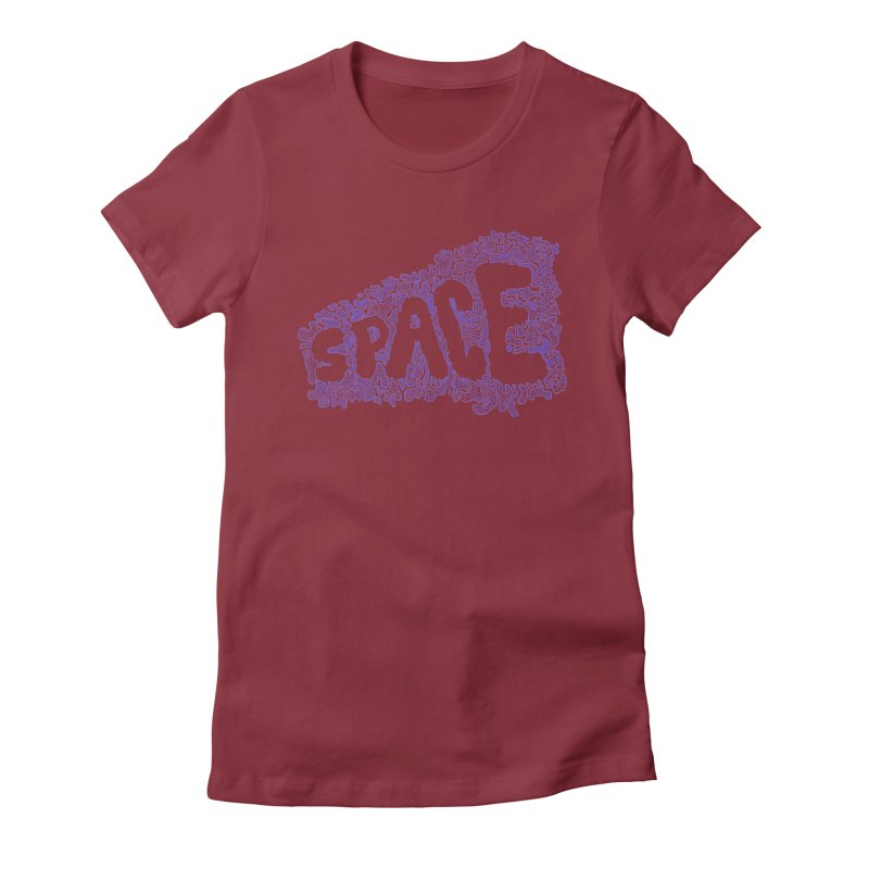 Negative Space (BLUE) Women's Fitted T-Shirt by malsarthegreat's Artist Shop