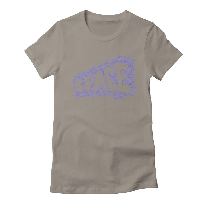Negative Space (BLUE) Women's Fitted T-Shirt by malsarthegreat's Artist Shop