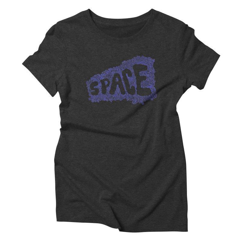 Negative Space (BLUE) Women's Triblend T-Shirt by malsarthegreat's Artist Shop