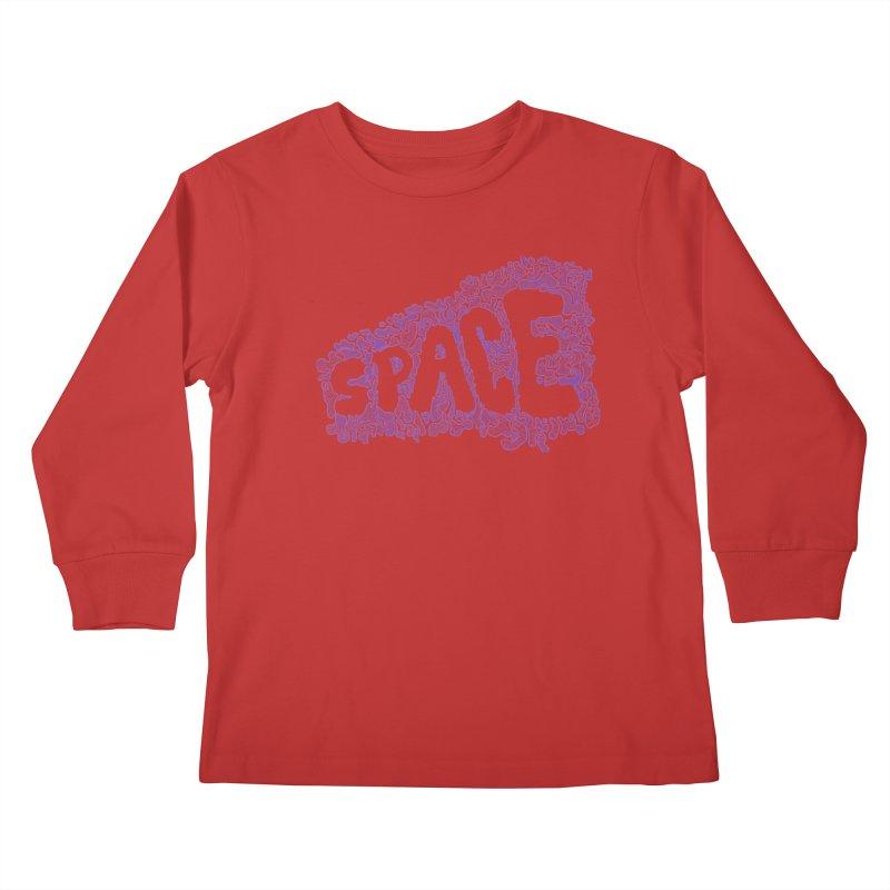 Negative Space (BLUE) Kids Longsleeve T-Shirt by malsarthegreat's Artist Shop