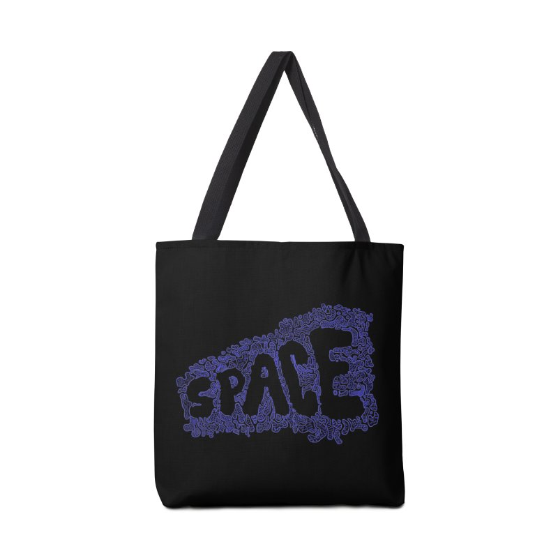 Negative Space (BLUE) Accessories Bag by malsarthegreat's Artist Shop