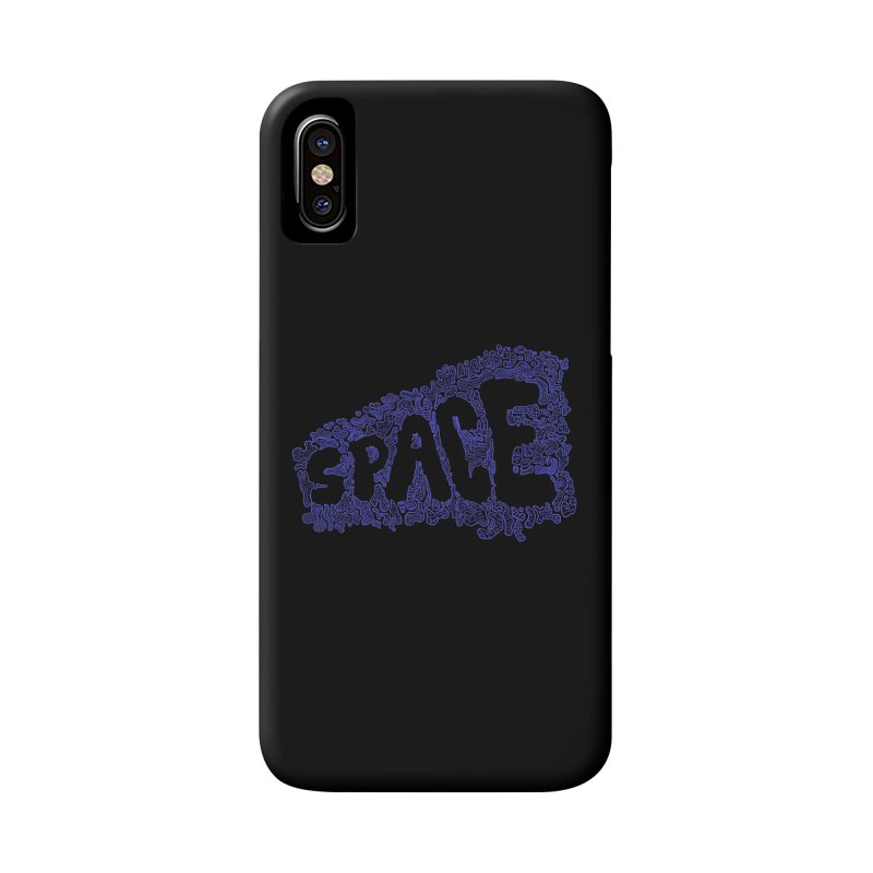 Negative Space (BLUE) Accessories Phone Case by malsarthegreat's Artist Shop
