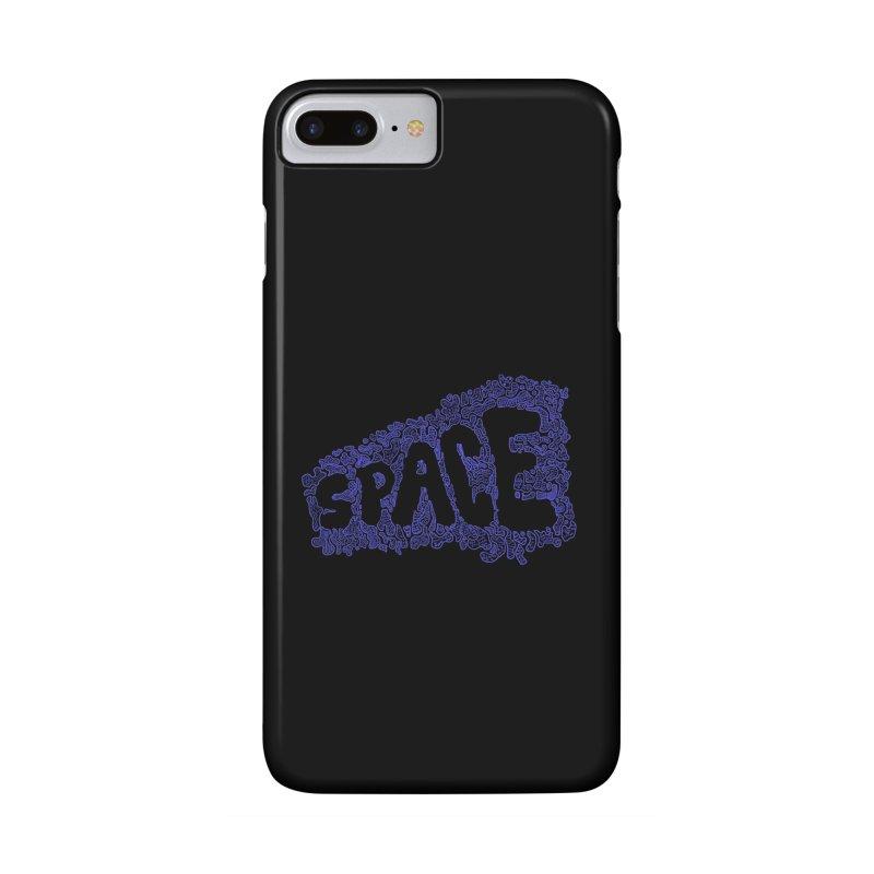 Negative Space (BLUE) Accessories Phone Case by malsarthegreat's Artist Shop