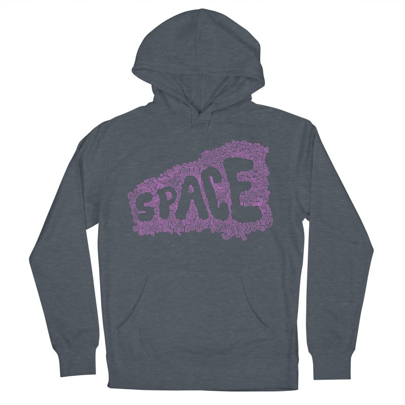 Negative Space (PINK) Men's Pullover Hoody by malsarthegreat's Artist Shop