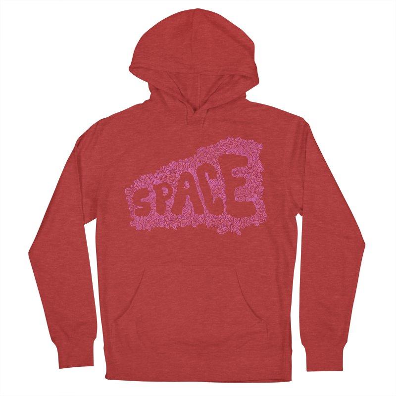 Negative Space (PINK) Men's Pullover Hoody by malsarthegreat's Artist Shop