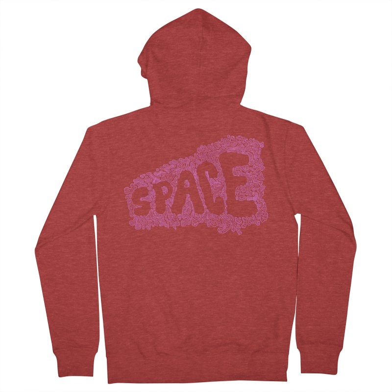 Negative Space (PINK) Women's Zip-Up Hoody by malsarthegreat's Artist Shop