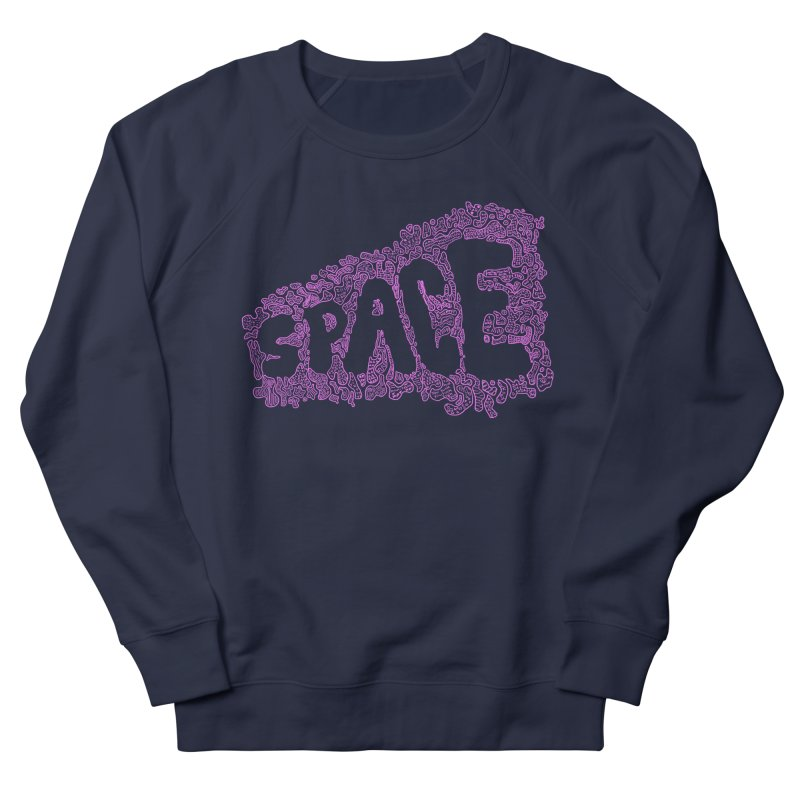 Negative Space (PINK) Women's Sweatshirt by malsarthegreat's Artist Shop