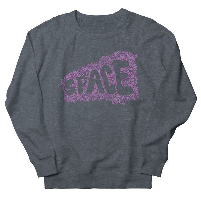 Negative Space (PINK) Men's Sweatshirt by malsarthegreat's Artist Shop