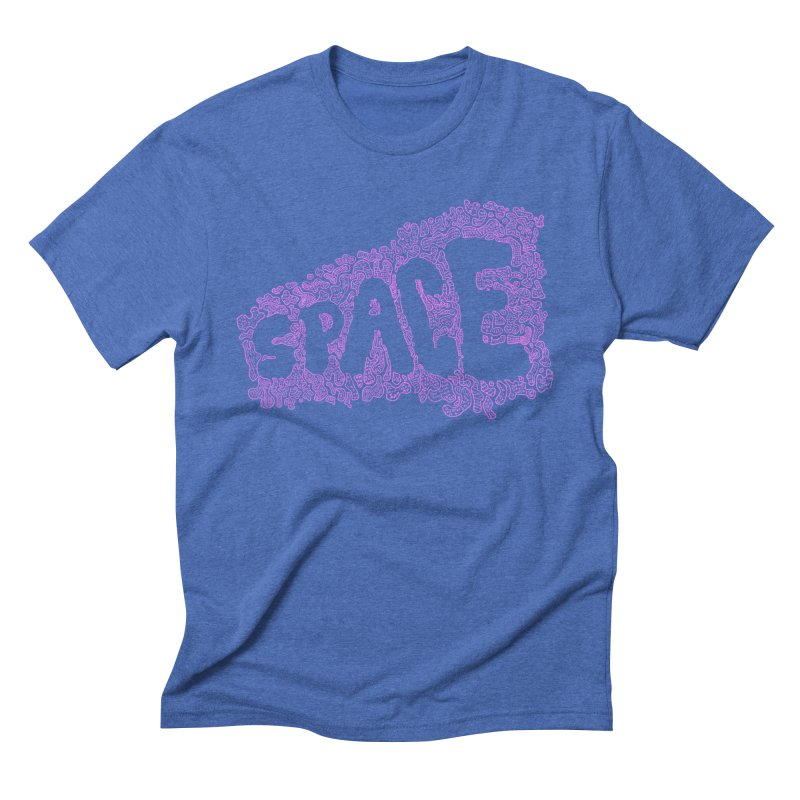 Negative Space (PINK) Men's Triblend T-Shirt by malsarthegreat's Artist Shop