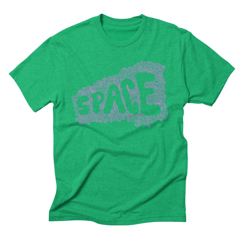 Negative Space (PINK) Men's Triblend T-Shirt by malsarthegreat's Artist Shop