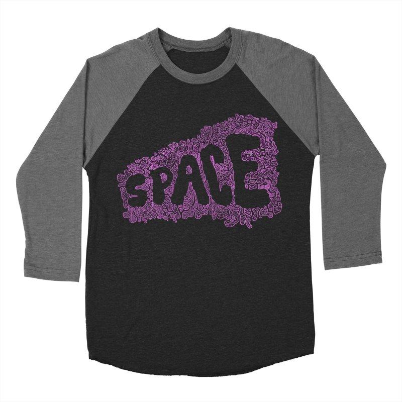 Negative Space (PINK) Men's Baseball Triblend T-Shirt by malsarthegreat's Artist Shop