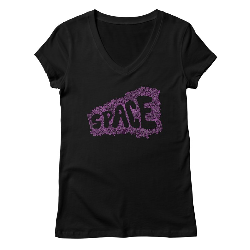 Negative Space (PINK) Women's V-Neck by malsarthegreat's Artist Shop