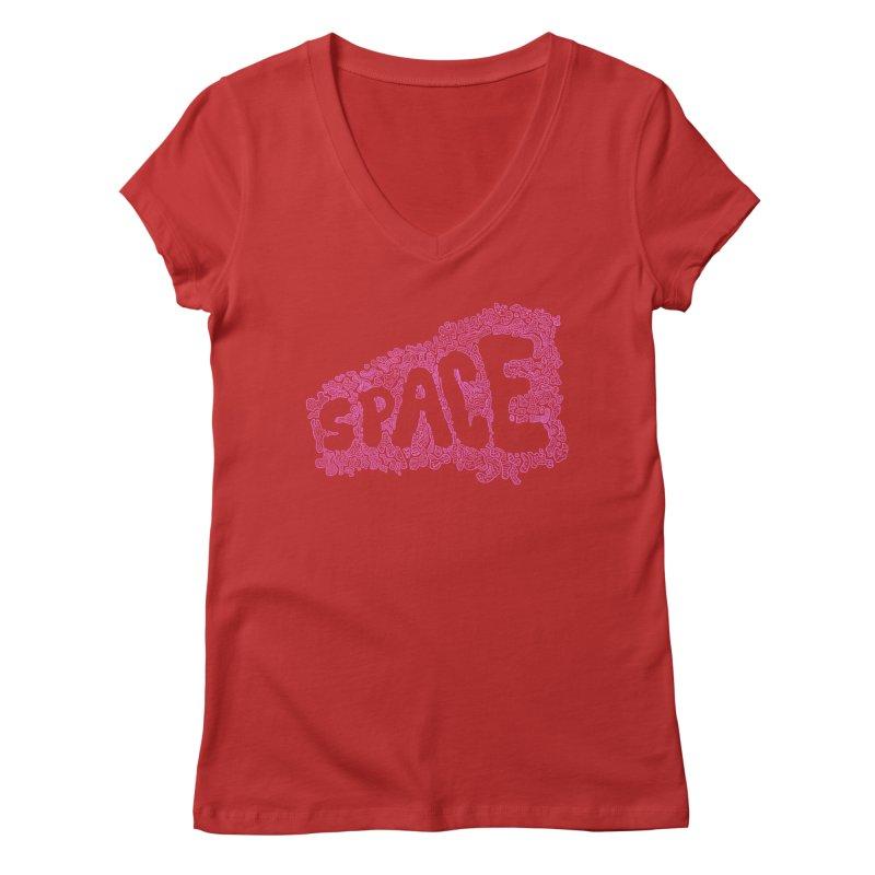 Negative Space (PINK) Women's V-Neck by malsarthegreat's Artist Shop