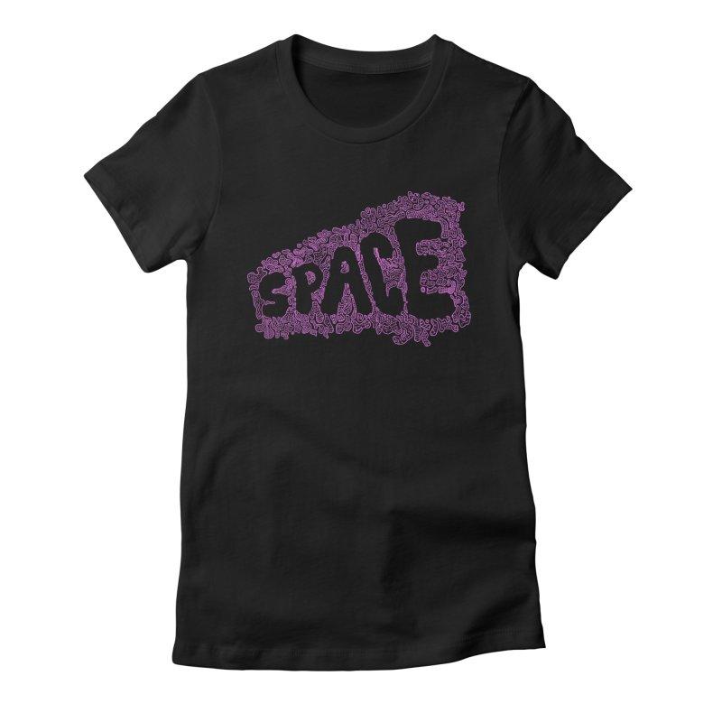 Negative Space (PINK) Women's Fitted T-Shirt by malsarthegreat's Artist Shop