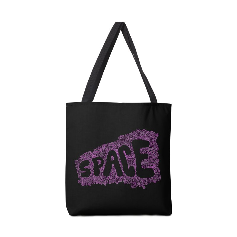 Negative Space (PINK) Accessories Bag by malsarthegreat's Artist Shop