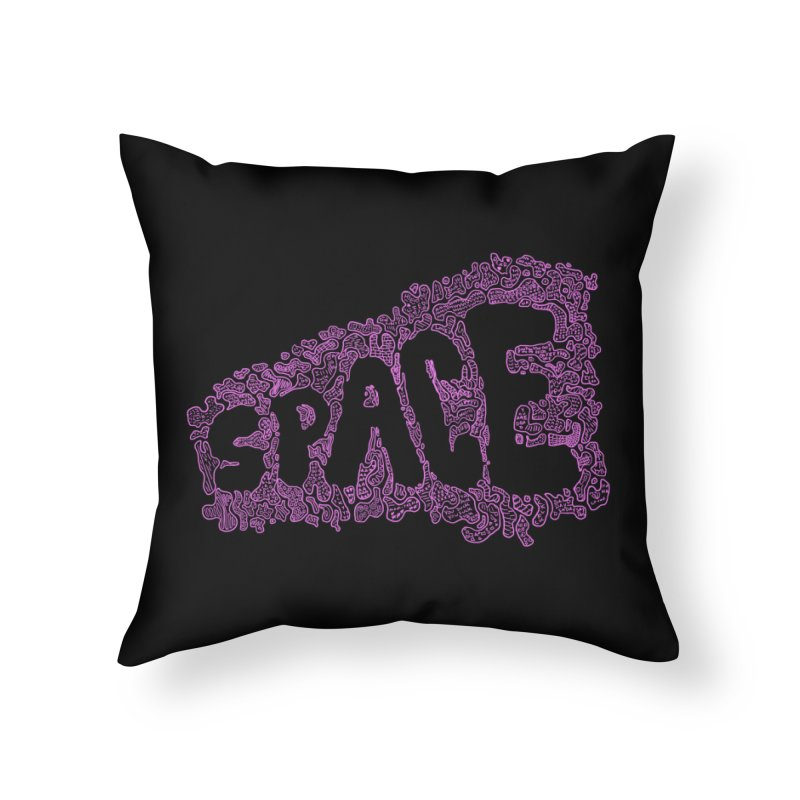 Negative Space (PINK) Home Throw Pillow by malsarthegreat's Artist Shop