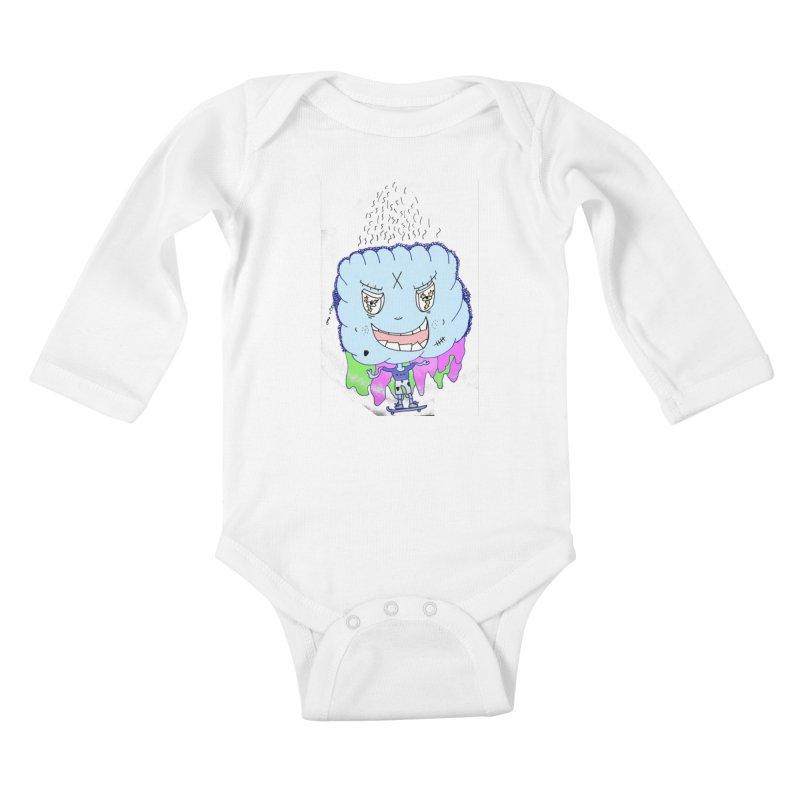 CLOUD GUY Kids Baby Longsleeve Bodysuit by maltzmania's Artist Shop
