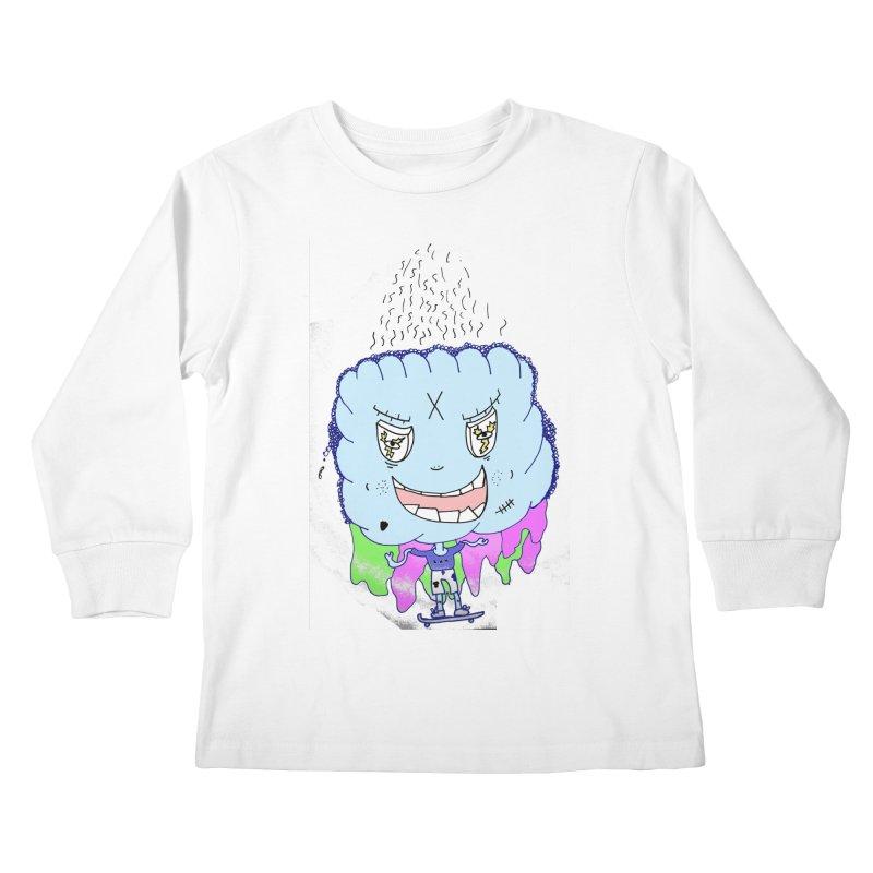CLOUD GUY Kids Longsleeve T-Shirt by maltzmania's Artist Shop