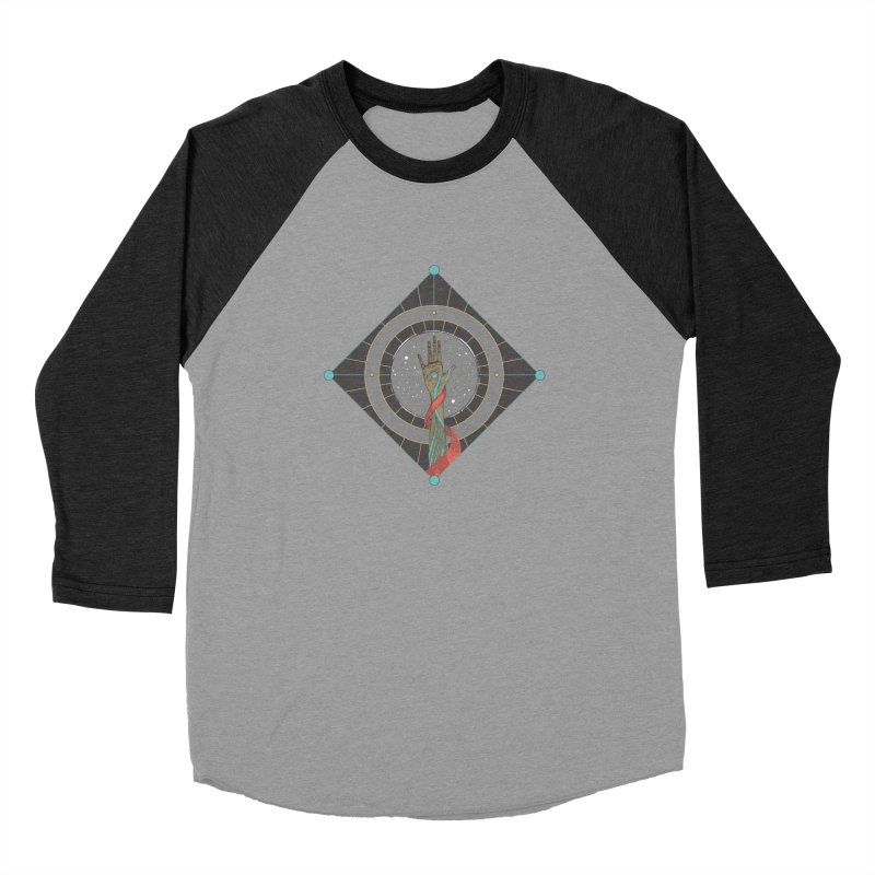 Guided Hand Men's Baseball Triblend Longsleeve T-Shirt by Manaburn's Shop