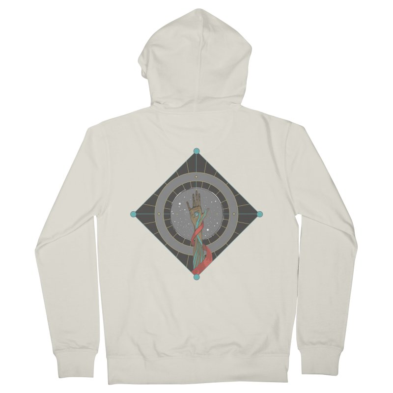 Guided Hand Women's Zip-Up Hoody by Manaburn's Artist Shop