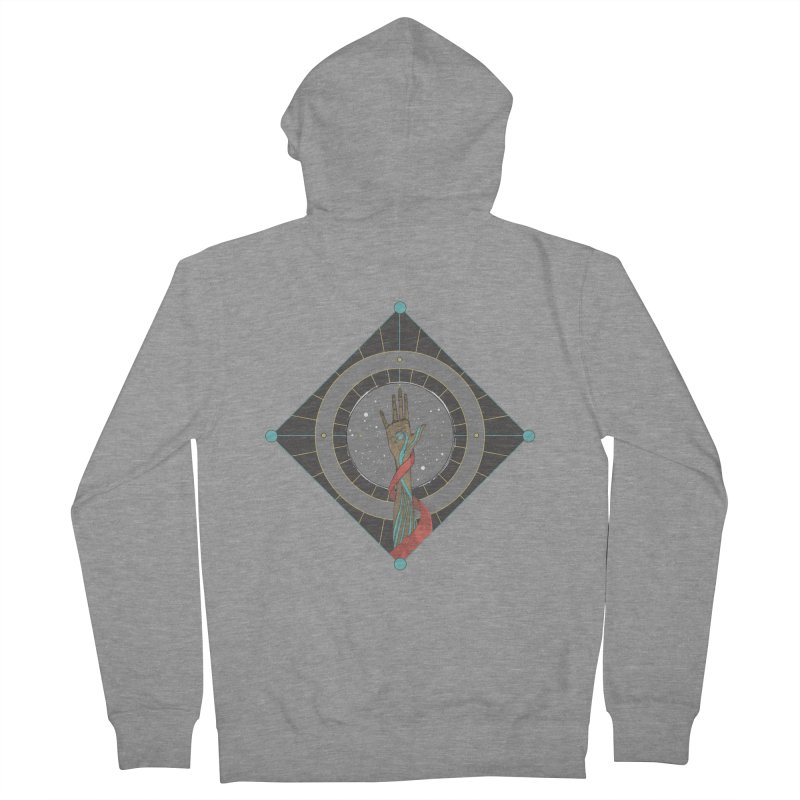 Guided Hand Men's Zip-Up Hoody by Manaburn's Artist Shop
