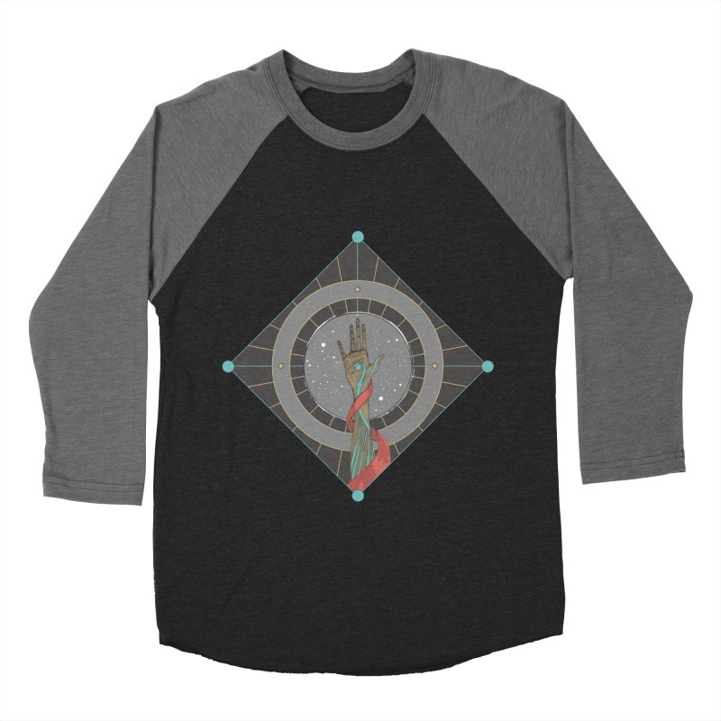 Guided Hand Women's Baseball Triblend T-Shirt by Manaburn's Artist Shop