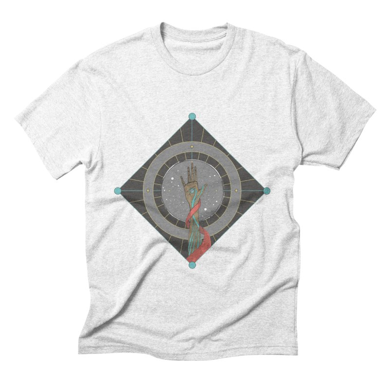 Guided Hand Men's Triblend T-shirt by Manaburn's Artist Shop