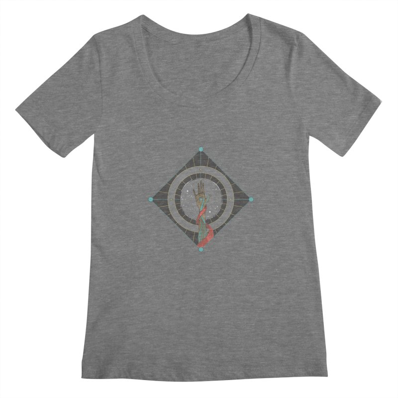 Guided Hand Women's Scoopneck by Manaburn's Artist Shop