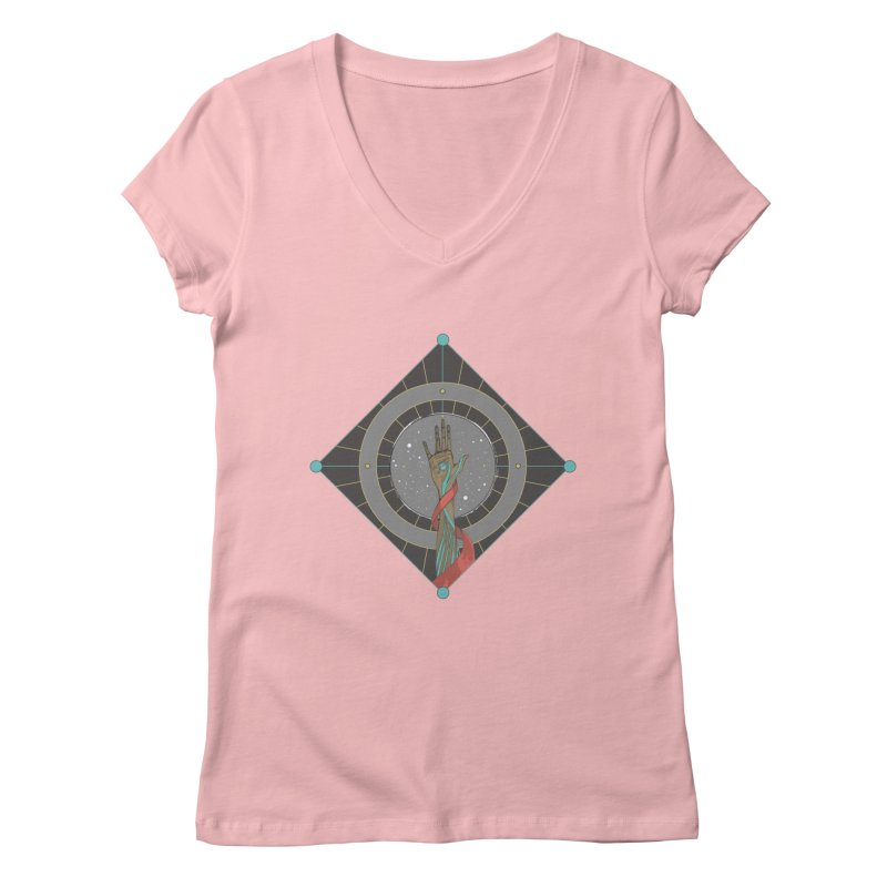 Guided Hand Women's V-Neck by Manaburn's Artist Shop