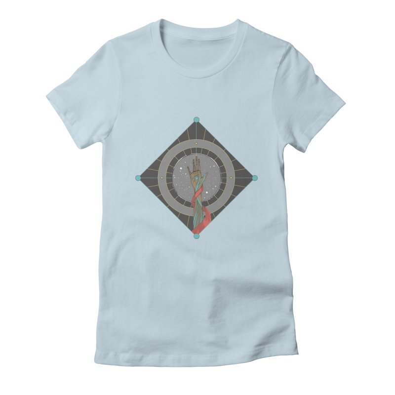 Guided Hand Women's Fitted T-Shirt by Manaburn's Artist Shop