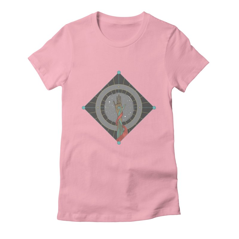 Guided Hand Women's Fitted T-Shirt by Manaburn's Shop