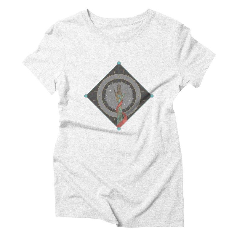 Guided Hand Women's Triblend T-shirt by Manaburn's Artist Shop