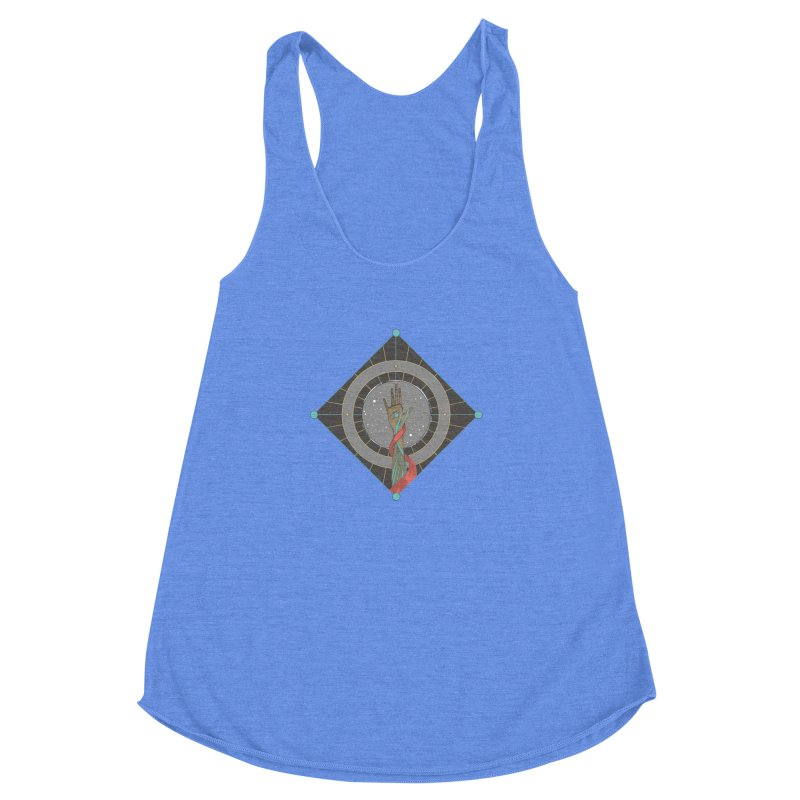 Guided Hand Women's Racerback Triblend Tank by Manaburn's Artist Shop
