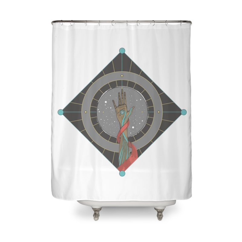 Guided Hand Home Shower Curtain by Manaburn's Artist Shop