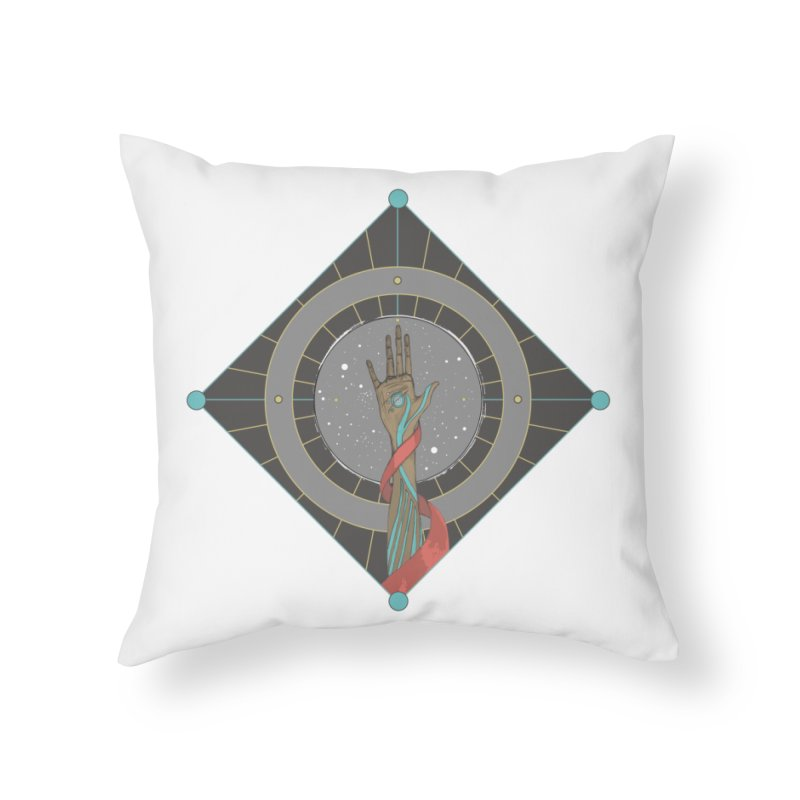 Guided Hand Home Throw Pillow by Manaburn's Shop