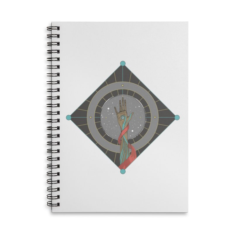 Guided Hand Accessories Lined Spiral Notebook by Manaburn's Shop