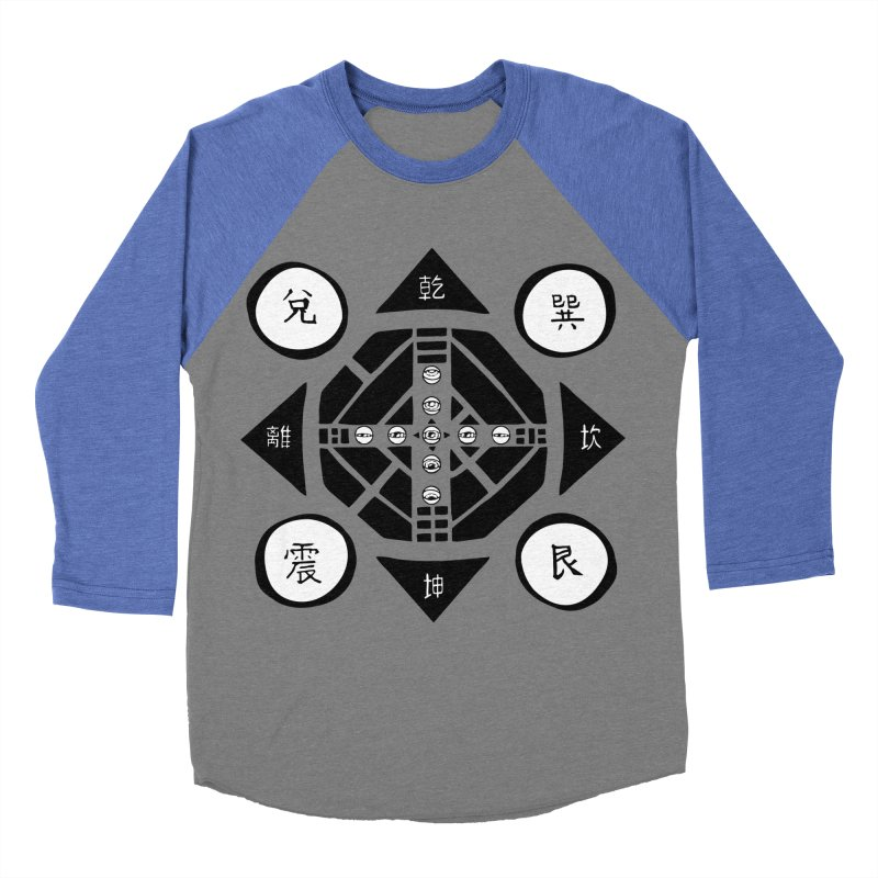 Sanpaku Men's Baseball Triblend T-Shirt by Manaburn's Artist Shop