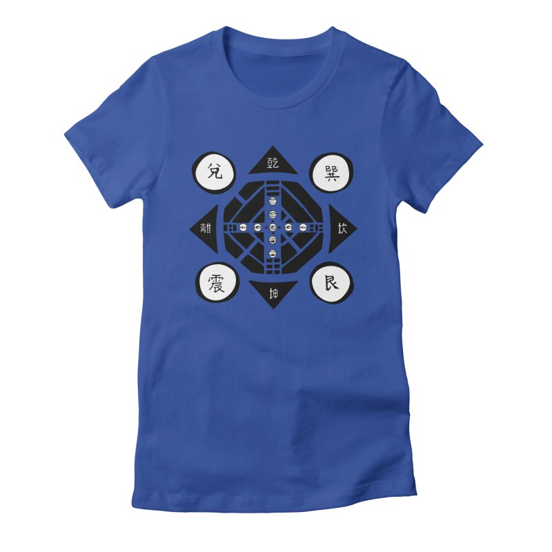 Sanpaku Women's Fitted T-Shirt by Manaburn's Artist Shop