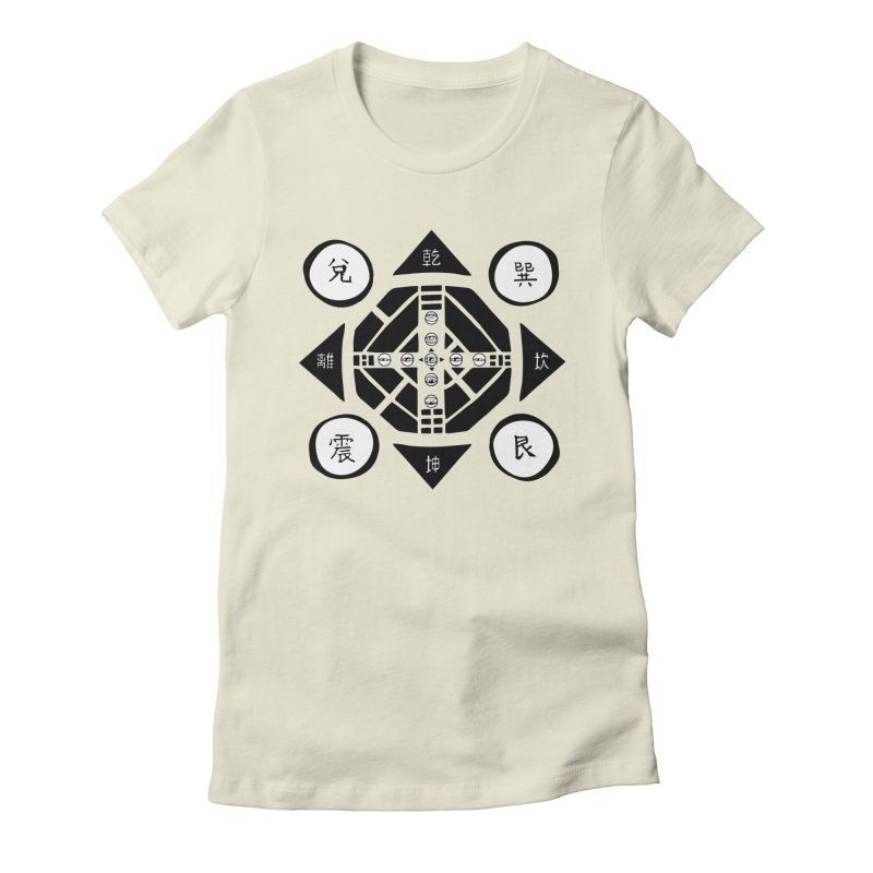 Sanpaku Women's Fitted T-Shirt by Manaburn's Artist Shop