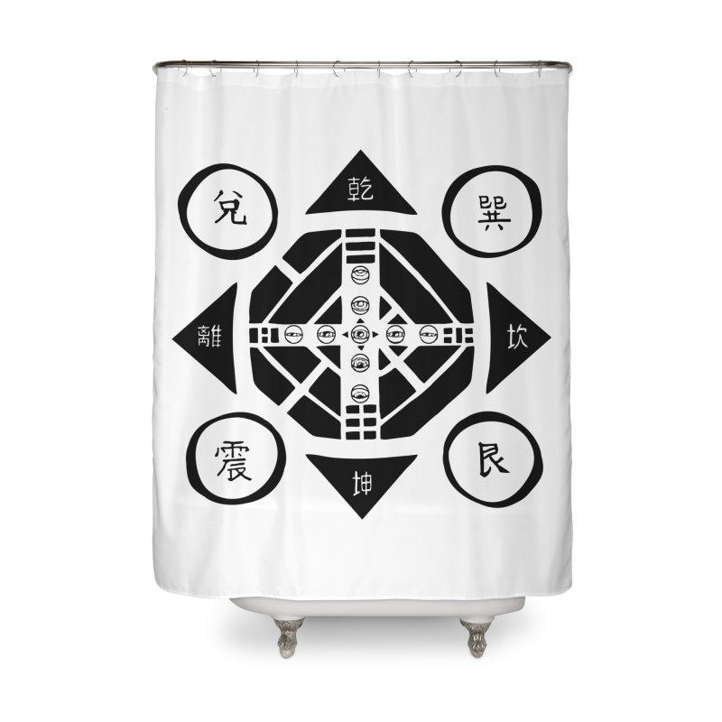 Sanpaku Home Shower Curtain by Manaburn's Shop