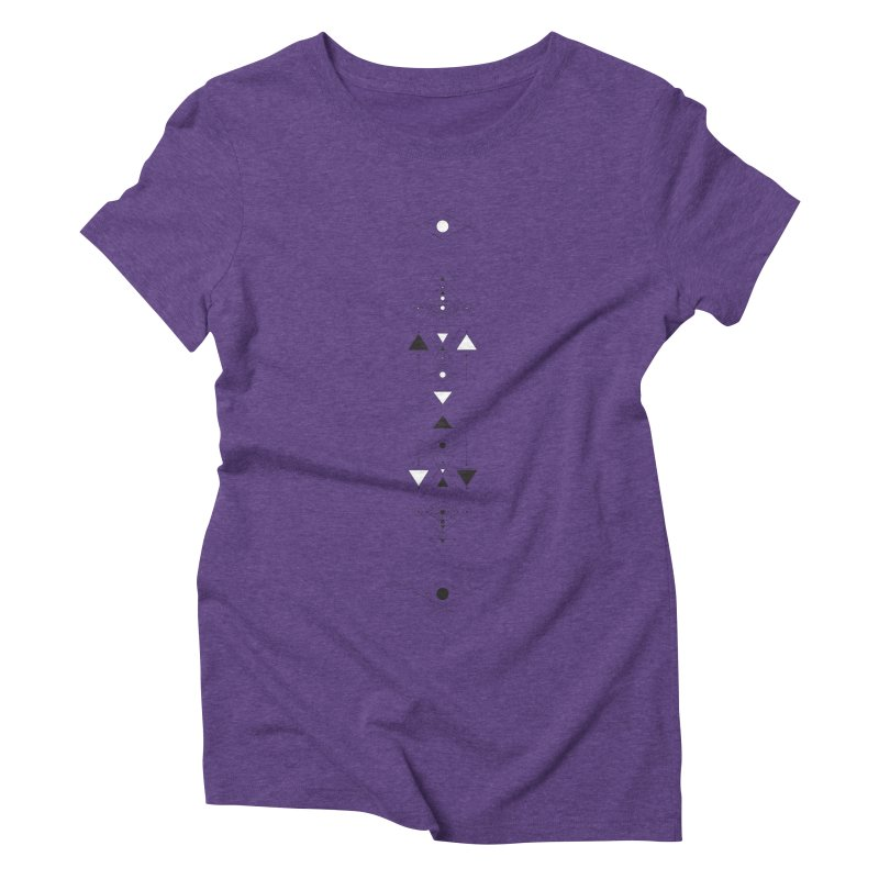 Above and Below  Women's Triblend T-Shirt by Manaburn's Shop