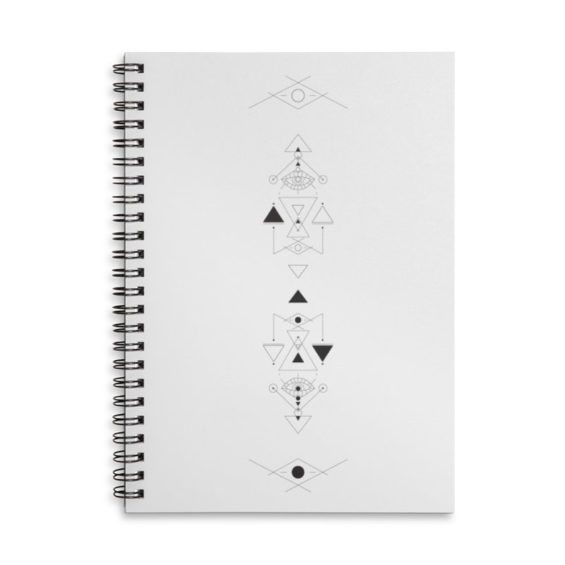 Above and Below  Accessories Lined Spiral Notebook by Manaburn's Shop