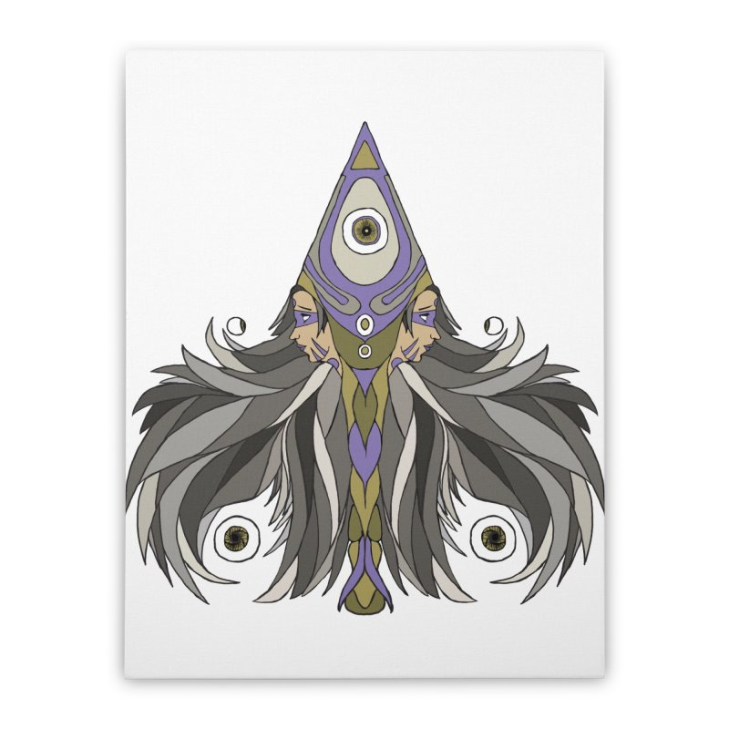 Ace of Spades Home Stretched Canvas by Manaburn's Shop