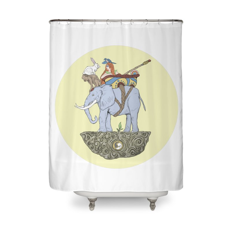 Friendship  Home Shower Curtain by Manaburn's Artist Shop