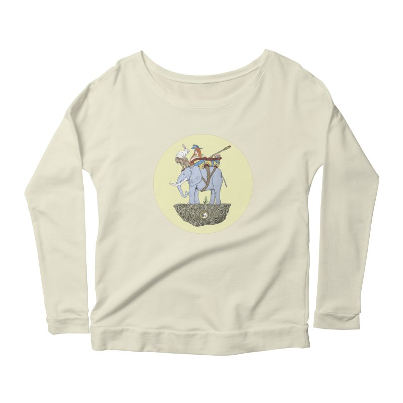Friendship  Women's Scoop Neck Longsleeve T-Shirt by Manaburn's Shop