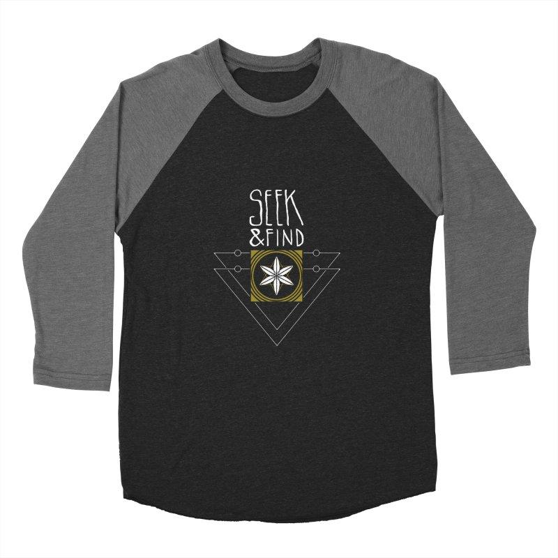 Seek & Find Men's Baseball Triblend T-Shirt by Manaburn's Shop