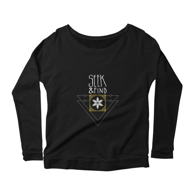 Seek & Find Women's Scoop Neck Longsleeve T-Shirt by Manaburn's Shop