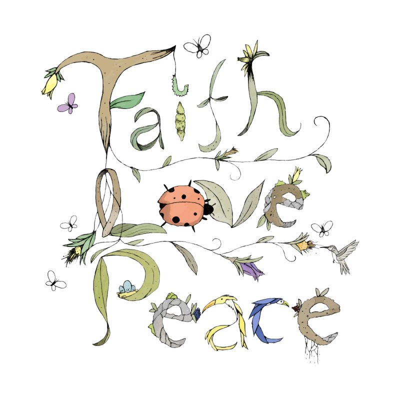 Faith+Love+Peace Accessories Sticker by Manaburn's Shop